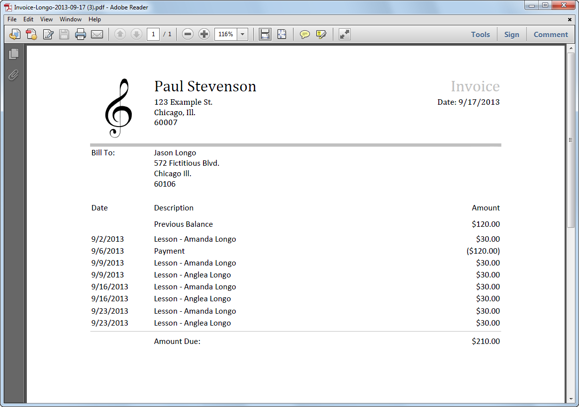 music teacher invoicing software 187 my music staff
