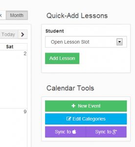 Easily create recurring lessons for students in My Music Staff