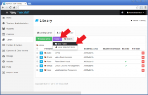 Adding a folder to the Download Library - My Music Staff