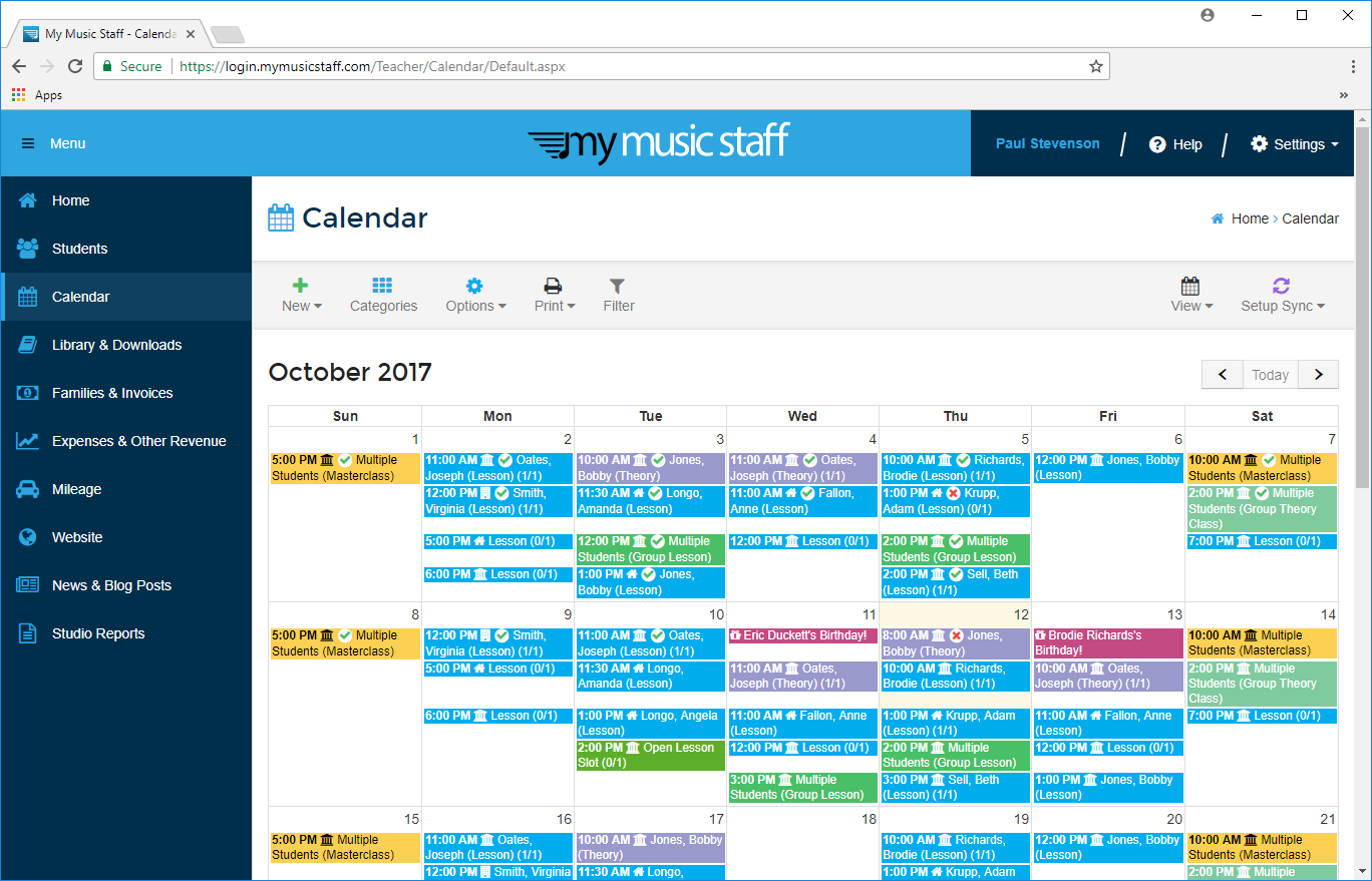 Music Lesson Scheduling Software - My Music Staff » My Music