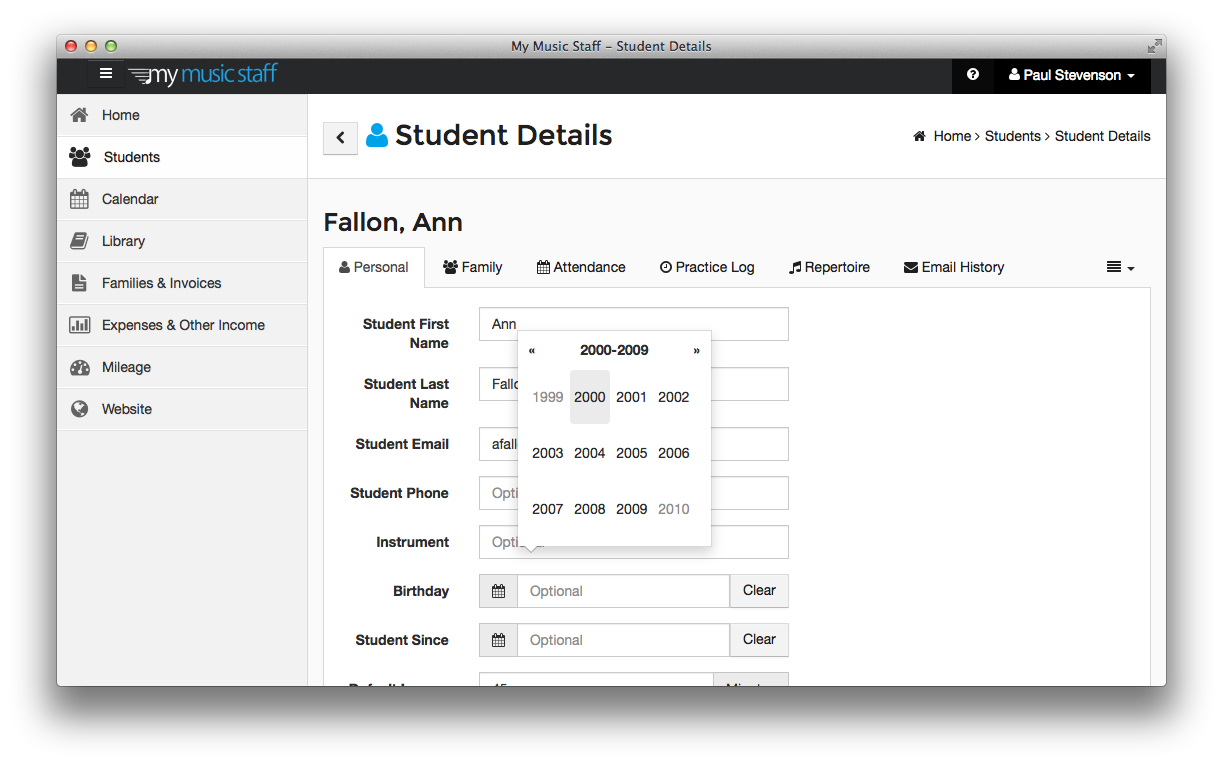 MMS-OSX-Student-Details